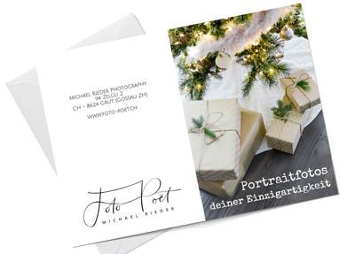 Fotoshooting als Weihnachtsgeschenk (Gutschein)